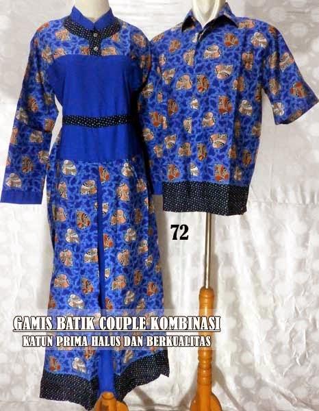 Baju gamis batik couple murah edisi terbaru 2015 Jual baju gamis couple 2015