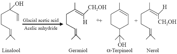 geraniol, α-terpineol and nerol