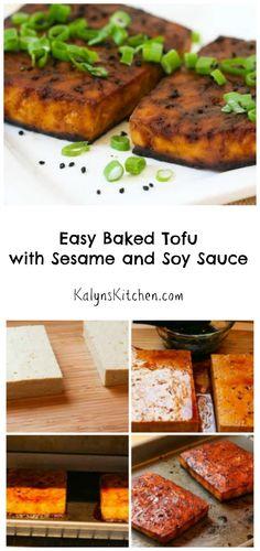 Baked tofu recipes easy