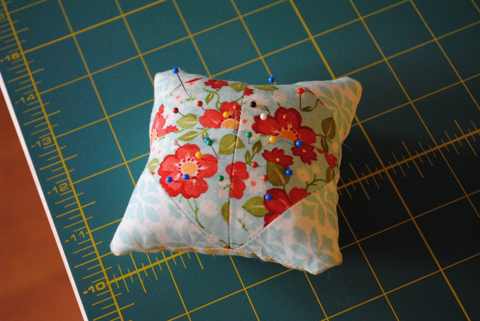 marmalade pin cushion top view