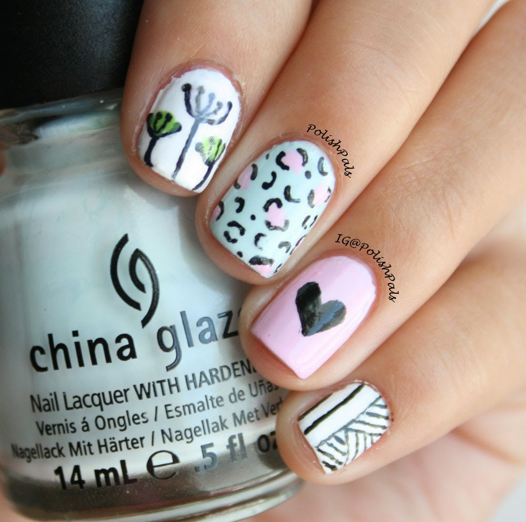 Girly Mix & Match Nails by Polish Pals