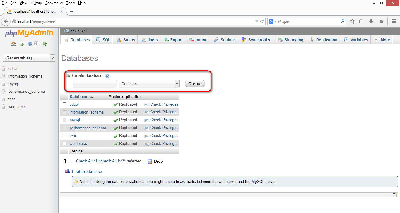 How To Create And Use Mysql Database Using Php Myadmin H