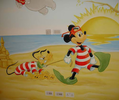 myckey mouse wall mural ideas