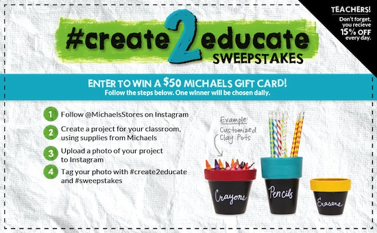 #create2educate sweepstakes