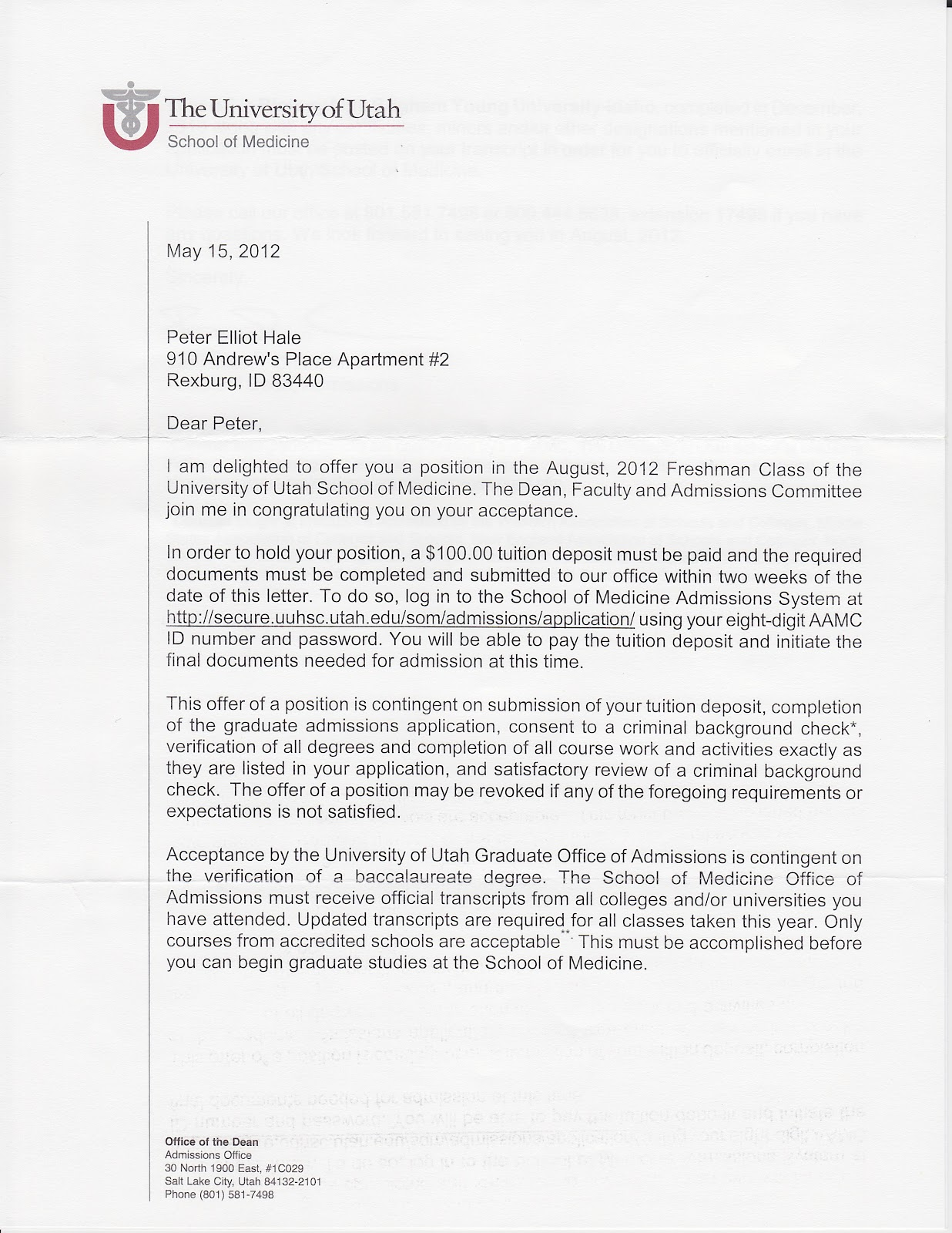 when do uc acceptance letters come the pioneering letter from in peter received an acceptance letter to the university of