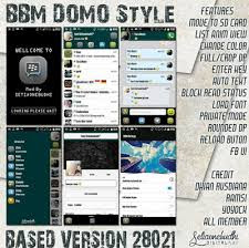 BBM Mod Domo Style V2.8.0.21 Apk Terbaru Android