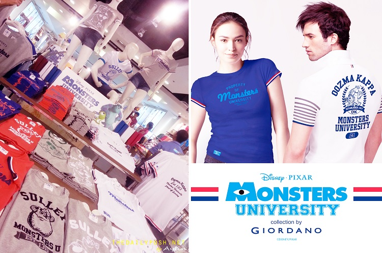 Back to School with Giordano's Monsters University Collection