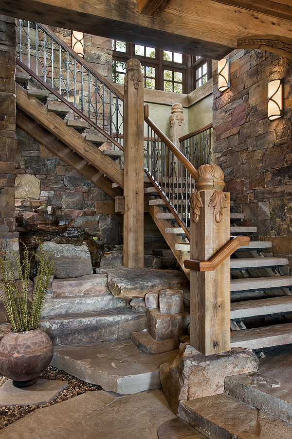 Exquisite dwellings stairs for Exterior stone stairs design