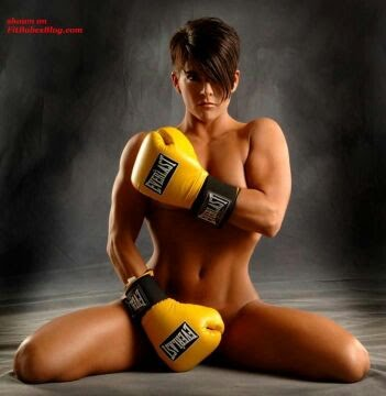 Precisely Nude fitness girl martial arts