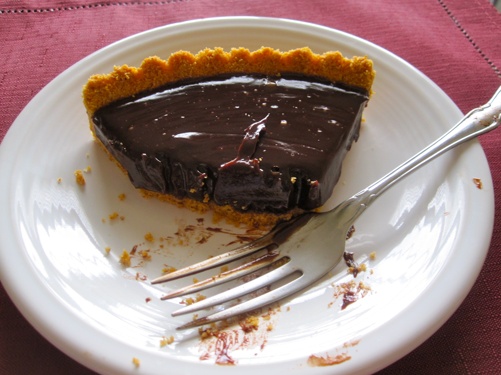 The Cultural Dish: Chocolate Ganache Tart with Hazelnuts