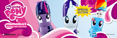 My Little Pony x Mimobot USB Flashdrives Series - Twilight Sparkle, Rarity & Rainbow Dash