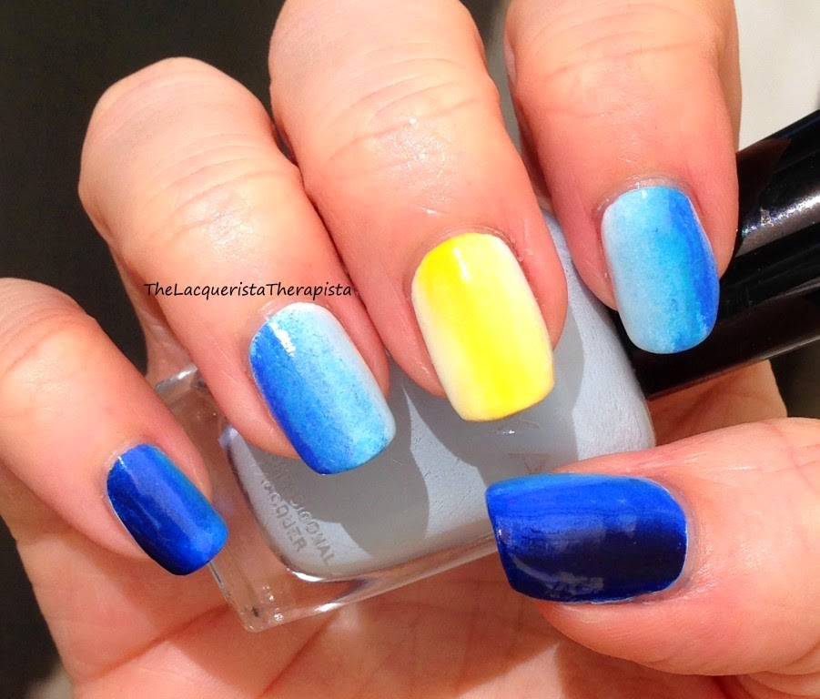 gradient; nail art