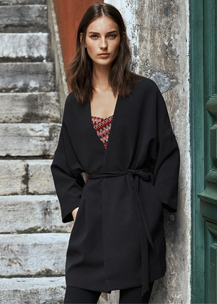 H&M otoño invierno abrigo kimono