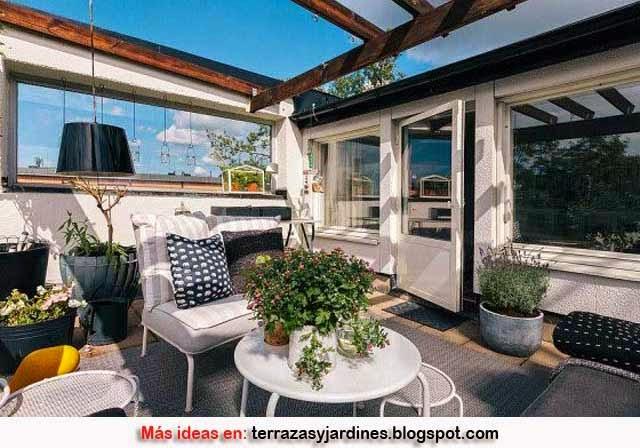 Decoraci n de terrazas terrazas y jardines fotos de - Terrazas y jardines ...