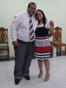 Alberto Santos e esposa Rosemary