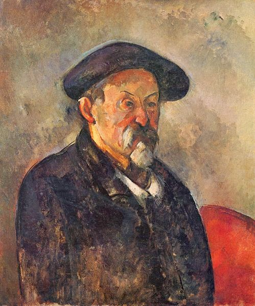 "Picture of ""Self Portrait with Beret"" by Paul Cezanne, 1898"