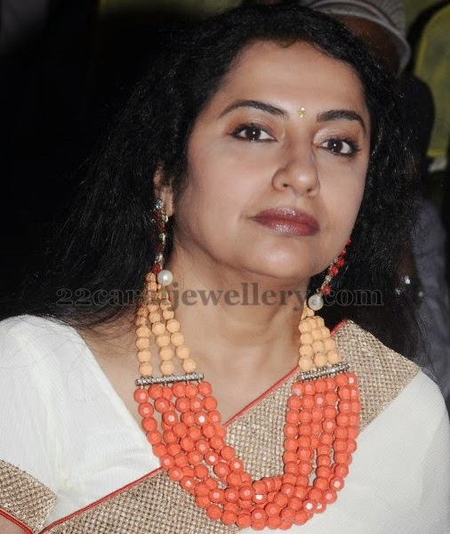 Suhasini Maniratnam Coral Necklace Jewellery Designs