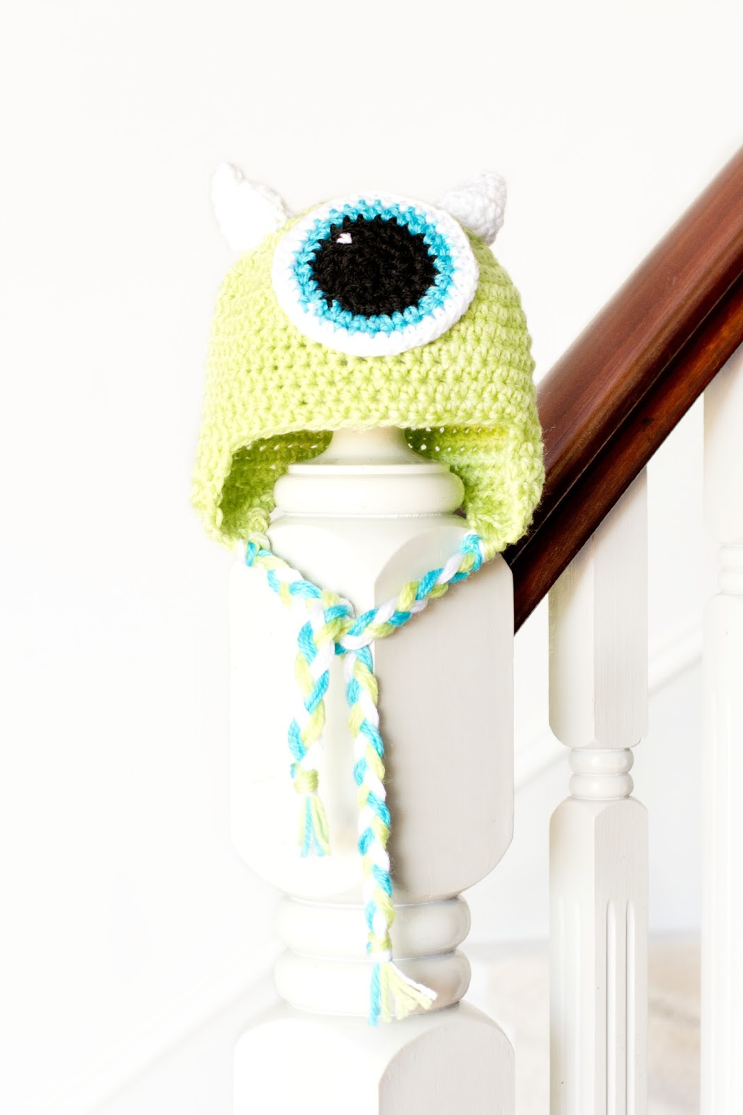 Monsters Inc. Mike Wazowski Inspired Baby Hat Crochet Pattern ... d293627bab14