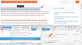 Inspect elemen untuk mendapatkan kode warna html css