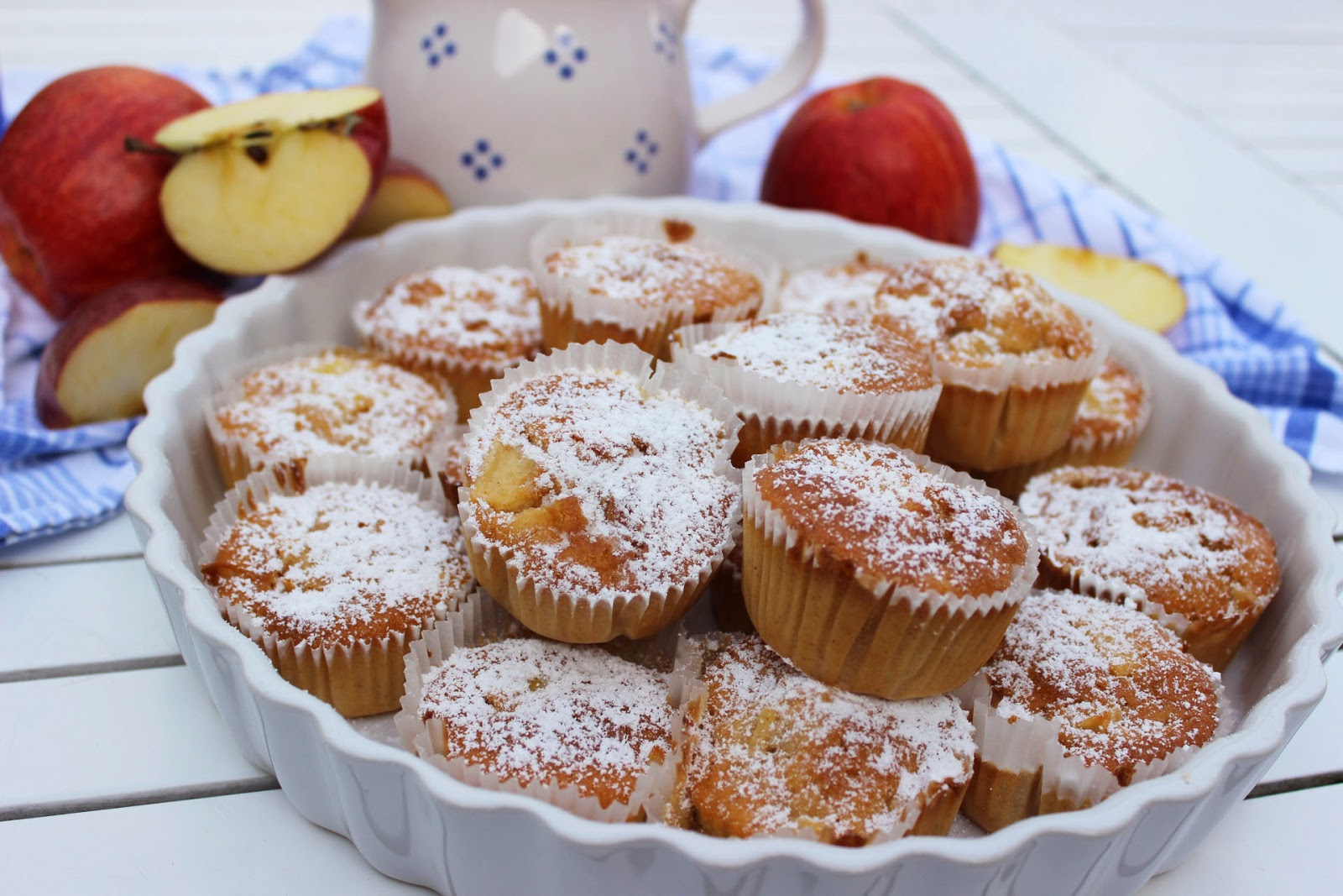 lille lykke apfel zimt muffins mit buttermilch. Black Bedroom Furniture Sets. Home Design Ideas