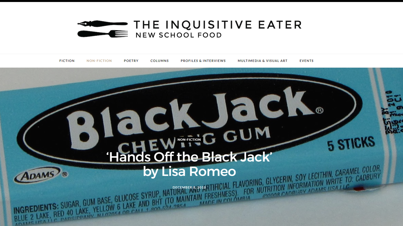 At The Inquisitive Eater, read my essay...