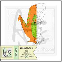 Dinosaur Digital Stamp