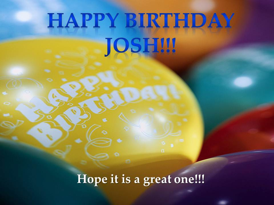 Happy Birthday Cake Joshua Images ~ From my kitchen table birthday happy josh