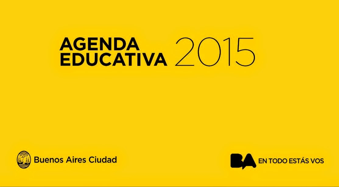 AGENDA EDUCATIVA 2015 CABA