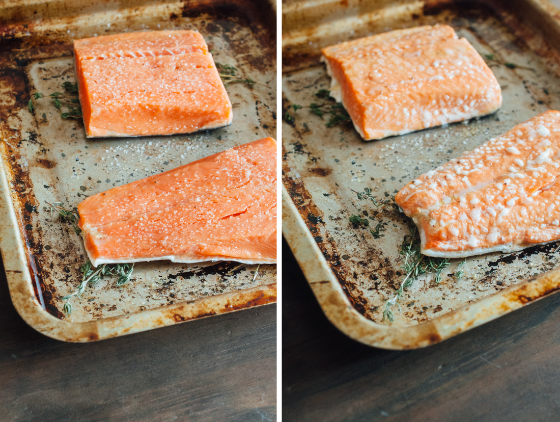 Slow Roasted Salmon With Herbed Yogurt (aip, Paleo, Low Fodmap, Whole 30