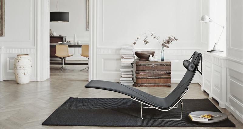 Lounge chair pk24 poul kj rholm dg arquitecto valencia - Chaise longue independiente ...