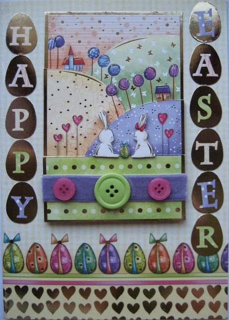 Easter card with Hunkydory Special Occasions die cut toppers & card