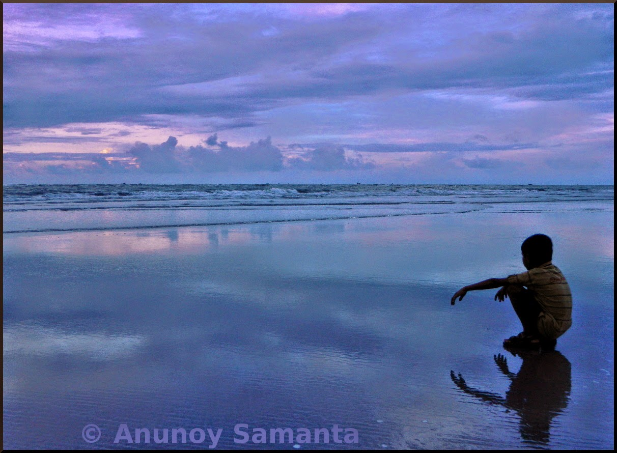 Boy Waiting for the Sunrise