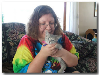 "Photo of Kalisha With A Kitten from ""Getting It Right - Occasionally"""