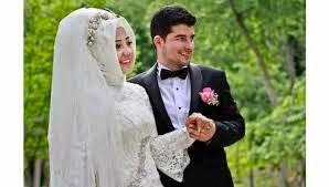 حجاب مع فستان العرس