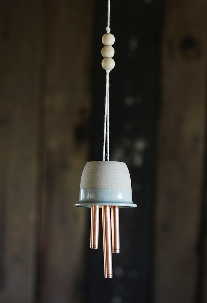 diy ceramic copper wind chimes poppytalk. Black Bedroom Furniture Sets. Home Design Ideas