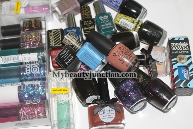Nail polish haul and swatches: O.P.I., Ciate, Models Own, Barry M. and Lancome