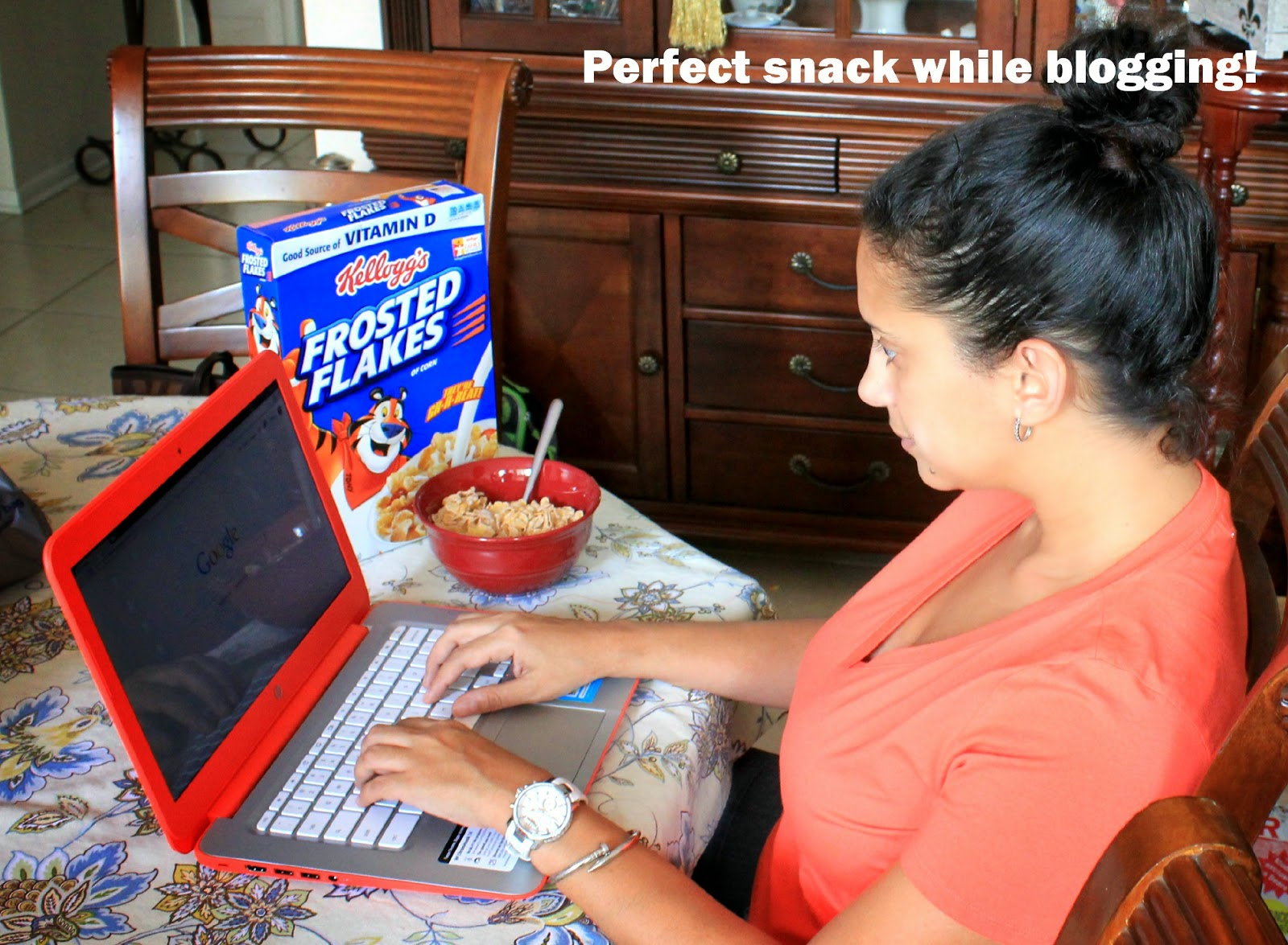 Cereal is the perfect snack while blogging! #goodnightsnack #shop
