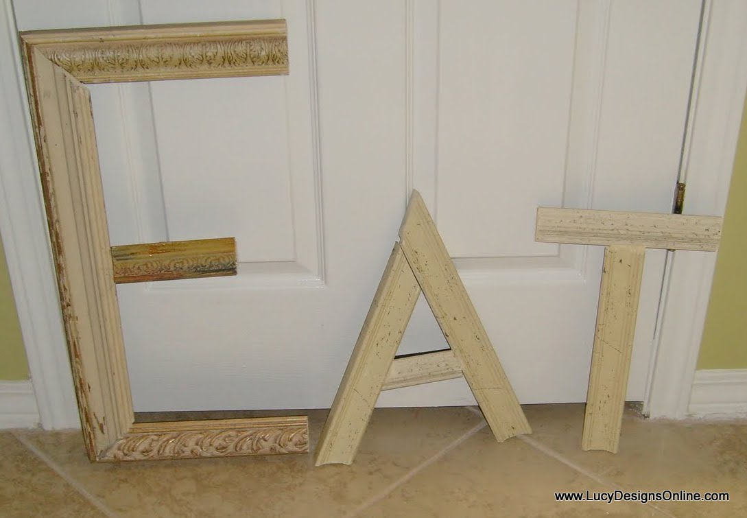 picture frame molding letters