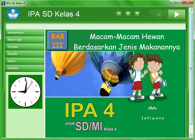 Download Media Pembelajaran Interaktif Ipa 4 Sd Macam Macam Hewan Semangat Belajar