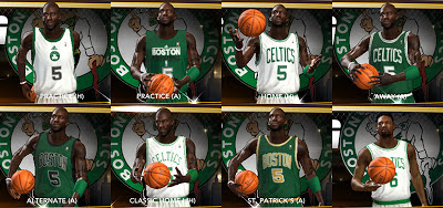 NBA 2K13 All Boston Celtics Jerseys Patch