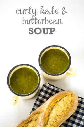 Curly Kale & Butter Bean Soup