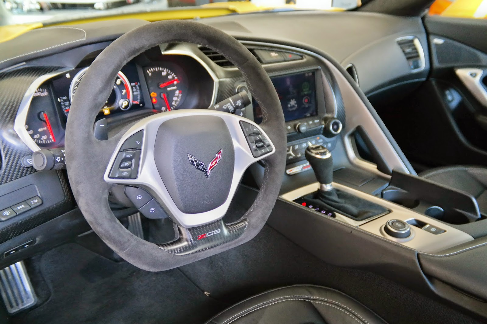 2014 Corvette C7 Z06 Interior Drivers Side Steering Wheel
