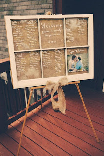 DIY Wedding Seating Board