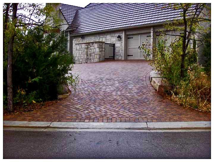 Brick driveway image entrances