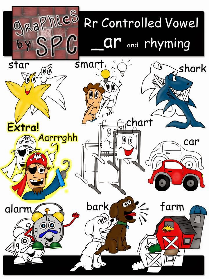 http://www.teacherspayteachers.com/Product/R-Controlled-Vowels-Clip-Art-_ar-Spelling-and-Rhyming-Clipart-1194502