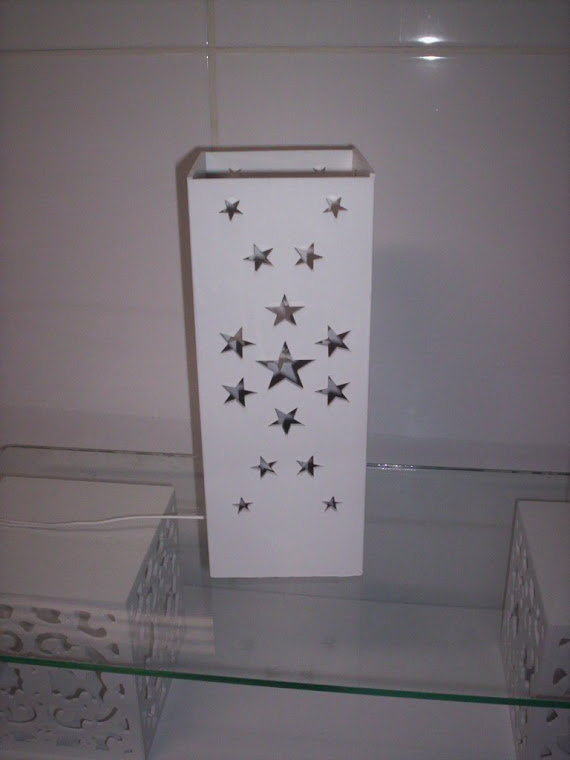 luminaria de mesa estrela