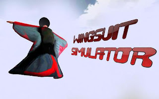 Screenshots of the Wingsuit simulator for Android tablet, phone.