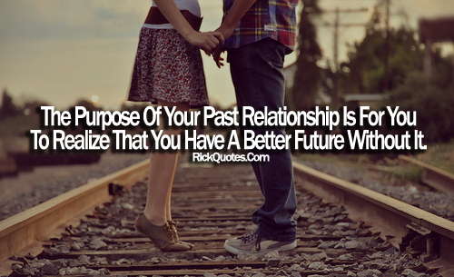 Relationship Quotes | A Better Future Without It girl boy Railway track Love couple