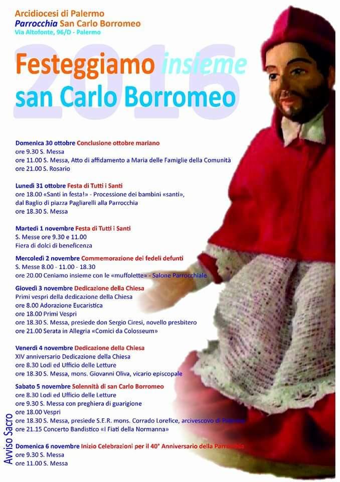 Festeggiamenti Parrocchia San Carlo Borromeo