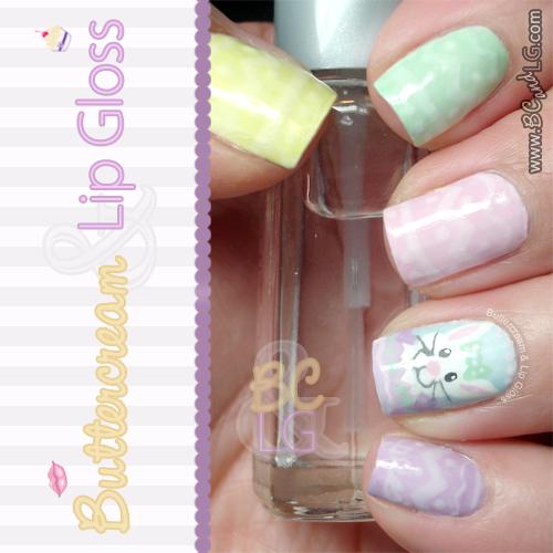 Kbshimmer Spring 2014 Chevron Dot Nail Art Easter Design: Buttercream & Lip Gloss